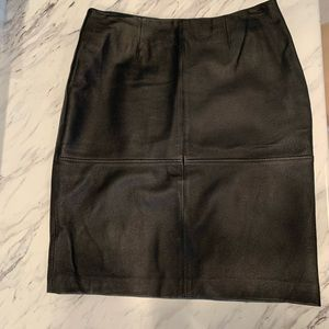 Newport News Black Leather Skirt Sz 4